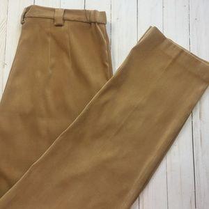 COLDWATER CREEK Caramel Faux-Suede Pants 8 EUC
